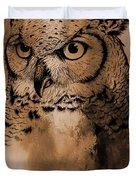 Wild Owl Eyes Duvet Cover