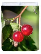 Wild Red Goosberries Duvet Cover