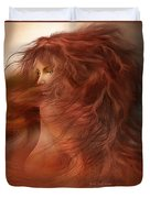 Wild Red Wind Duvet Cover