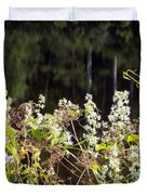 Wild Riverside Weeds And Flowers Duvet Cover