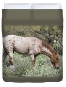 Wild Roan Stallion  Duvet Cover