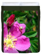 Wild Rose And The Spider Duvet Cover