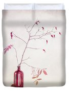 Wild Rosehips In A Bottle Duvet Cover