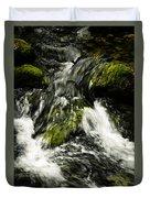Wild Stream Of Green Moss Duvet Cover