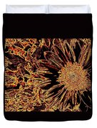 Wild Sunflower Abstract Duvet Cover