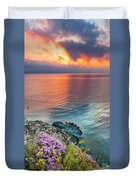 Wild Thyme By The Sea Duvet Cover