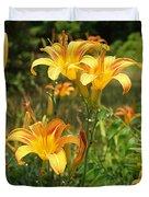 Wild Tiger Lilies Duvet Cover