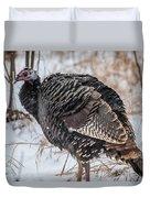 Wild Turkey Not The Whiskey Duvet Cover
