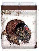 Wild Turkey Parade Print Duvet Cover