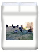 Wild Turkeys. Duvet Cover