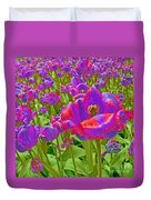 Wild Version Pink And Purple Tulips Duvet Cover