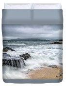 Wild Weather At Geodha Mhartainn On The Isle Of Harris Duvet Cover