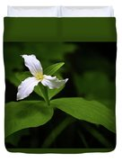 Wild White Trillium Duvet Cover