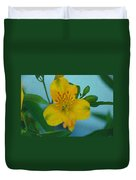 Wild Yellow Lilly Duvet Cover