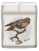 Wildcraft Bird Print On Linen Duvet Cover