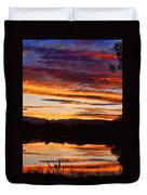 Wildfire Sunset 1v  Duvet Cover