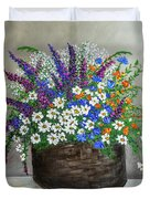 Wildflower Basket Acrylic Painting A61318 Duvet Cover