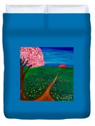 Wildflower Country Road Duvet Cover