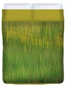 Wildflower Fields Abstract Duvet Cover