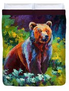 Wildflower Grizz Duvet Cover