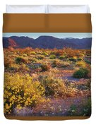 Wildflower Meadow At Joshua Tree National Park Duvet Cover
