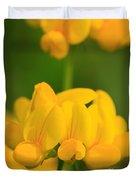 Wildflower Named Birdsfoot Trefoil Duvet Cover