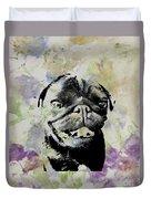 Wildflower Pug Duvet Cover