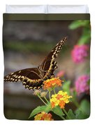 Wildflower Swallowtail Duvet Cover