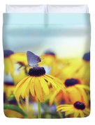 Wildflower Visitor Duvet Cover