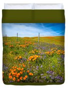 Wildflower Wonders Of The High Desert Duvet Cover