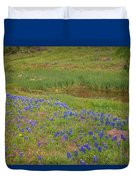 Wildflowers Along The Creek Duvet Cover