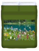 Wildflowers Along The Lake Duvet Cover