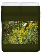 Wildflowers And Bee Duvet Cover