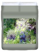 Wildflowers And Cactuses Duvet Cover