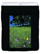Wildflowers And The Oak Duvet Cover