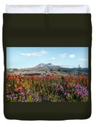Wildflowers At Mount St Helens Duvet Cover