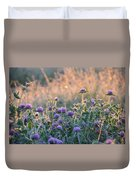 Wildflowers At Sunrise Duvet Cover