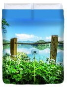 Wildflowers At The Lake In Spring Duvet Cover