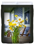 Wildflowers Bouquet At Cottage Duvet Cover by Elena Elisseeva