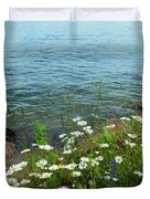 Wildflowers By The Lake  Duvet Cover