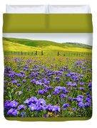 Wildflowers Carrizo Plain Duvet Cover