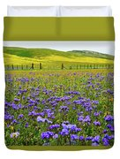 Wildflowers Carrizo Plain National Monument Duvet Cover