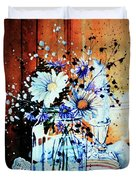 Wildflowers In A Mason Jar Duvet Cover