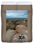 Wildflowers In The Badlands Duvet Cover