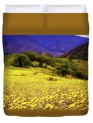 Wildflowers In The San Emigdio Mountains Duvet Cover