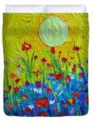Wildflowers Meadow Sunrise Duvet Cover