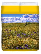 Wildflowers Of The Carrizo Plain Superbloom 2017 Duvet Cover