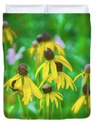Wildflowers Of Yellow Duvet Cover