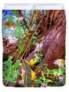 Wildflowers On A Cypress Knee Duvet Cover