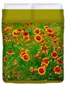 Wildflowers On The Barb Duvet Cover